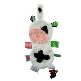 【出清優惠】比利時LABEL LABEL 奶嘴鏈安撫巾 - 假日系列 - 小牛(戒奶嘴及長牙的好幫手)