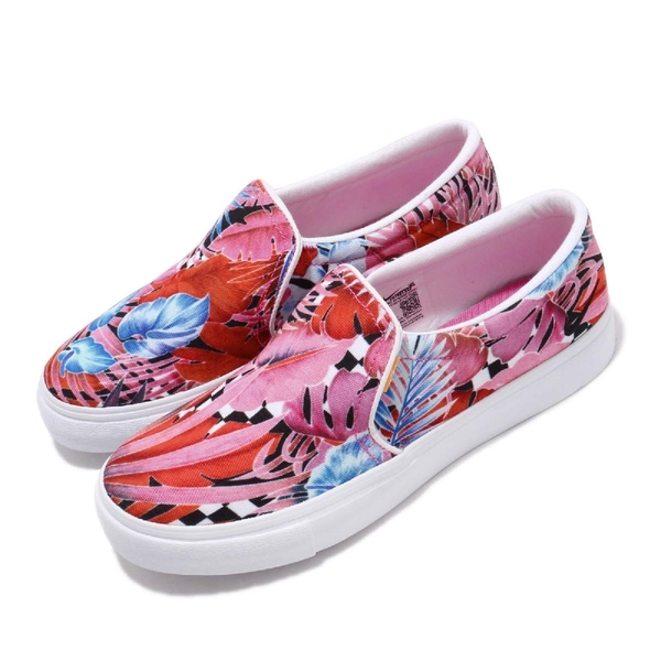 Nike 休閒鞋 Wmns Court Royale AC SLPPT 懶人鞋 桃紅 藍 花花 女鞋 【ACS】 CD7003-600