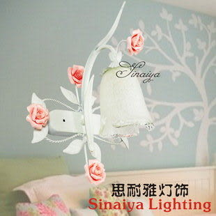 玫瑰花壁燈