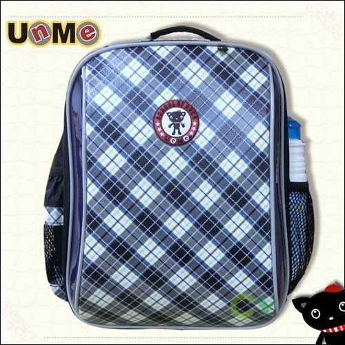 【南紡購物中心】【UnMe】格菱系單層後背書包/藍色