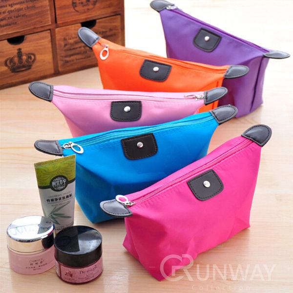 【24H】糖果色大容量化妝包 水餃包 手拿包 萬用包整理袋 收納包 零錢包 盥洗包 防水材質