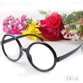 眼鏡框 新款大框 沒有鏡片裝飾眼鏡框架 韓版磨砂黑賣萌自拍zzy7802『易購3c館』