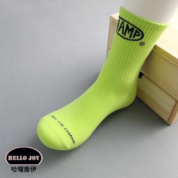 【正韓直送】標籤後跟英字加大中筒襪 韓國襪子 長襪 型男必備 加大襪 棉襪 哈囉喬伊M44