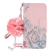三星 Note10 Note10+ Note9 Note8 手繪玫瑰 手機皮套 插卡 立體花朵 吊飾 掛件 保護套