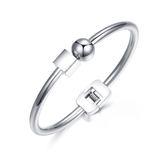 【5折超值價】316L西德鈦鋼最新款經典時尚簡約特色形狀女款鈦鋼手環