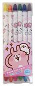 【金玉堂文具】卡娜赫拉的小動物 12色雙頭旋轉蠟筆