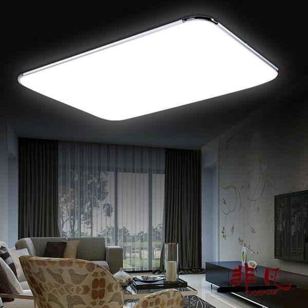 吸頂燈 超薄LED吸頂燈客廳燈具長方形臥室書房餐廳陽臺現代簡約辦公室燈-凡屋FC