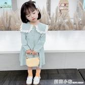 女童洋氣長袖洋裝2020秋裝新款韓版女寶寶時髦娃娃領公主裙3歲5 聖誕節全館免運
