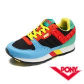 My Foot〔PONY ﹞SOLA-V系列 女鞋 休閒慢跑鞋-水藍x黑x綠 53W1SO66BL
