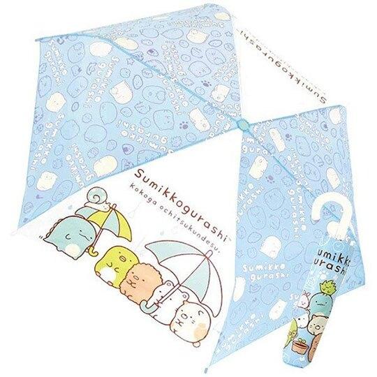 〔小禮堂〕角落生物 彎把防風傘骨折疊傘《藍.看盆栽》折傘.雨具.雨傘 4580433-07952