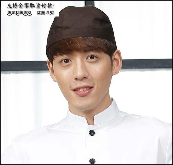 小熊居家韓版男女同款超強防水面料廚師帽 日式料理店餐廳工作帽 飄帶帽特價