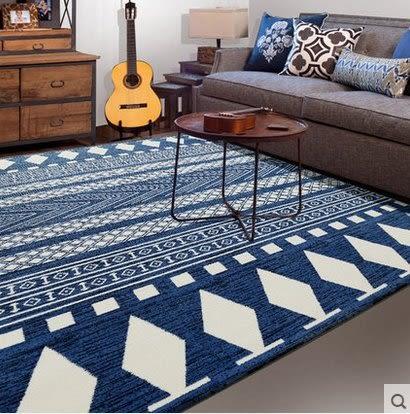 北歐簡約現代客廳沙發茶几地毯臥室床邊滿鋪家用房間黑白格子菱形