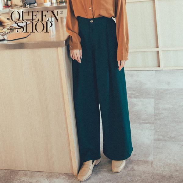 Queen Shop【04110248】高腰打折鬆緊落地褲 兩色售 S/M/L*現+預*