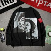 小丑寬鬆長袖T恤 大碼嘻哈韓版學生男裝【非凡上品】cx806