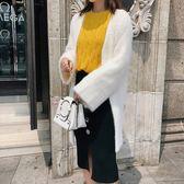SHINE KOREA  新款仿海馬毛氣質針織質感外套(短款小外套)