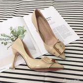 春季新款裸色高跟鞋女細跟黑色尖頭職業韓版百搭單鞋  ciyo黛雅