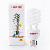 東亞 24W 半螺旋型 三波長域電子式省電燈泡 燈泡色 1P