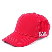美國正品 KARL LAGERFELD 貓咪耳朵棒球帽-紅色【現貨】