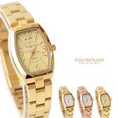 Valentino范倫鐵諾 經典小酒桶玫瑰金腕錶手錶 奧地利水鑽 柒彩年代【NE1356】原廠公司貨