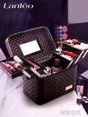 大容量韓國化妝包女多功能層小號網紅便攜手提化妝品收納盒簡約箱  韓語空間
