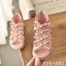 女童羅馬白色涼鞋2021新款小公主軟底兒童粉色涼鞋寶寶鞋夏季小童 科炫數位