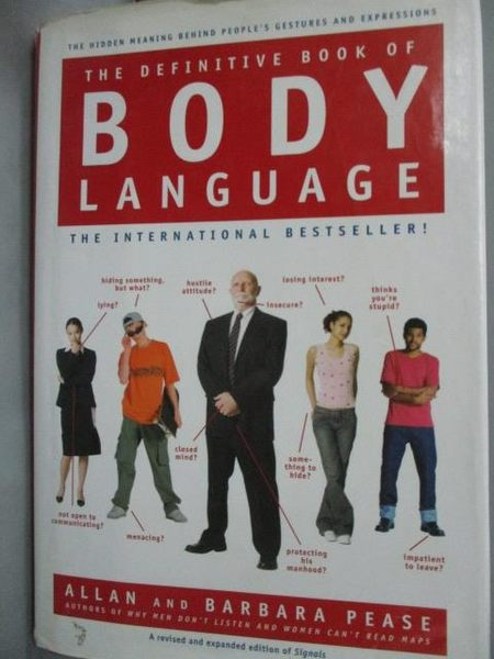 【書寶二手書T2/體育_WGR】The Definitive Book of Body Language_Pease,