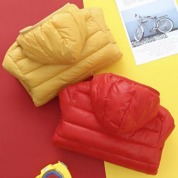 兒童反季衣服秋冬中大童輕薄款羽絨棉服外套長袖連帽女童外套洋氣 滿天星