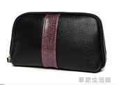 女包手拿包2018新款大容量手包女士小包包牛皮手抓包百休閒·享家
