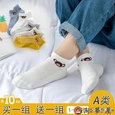 10雙|兒童襪子夏季薄款純棉短襪寶寶春秋透氣網眼襪船襪【淘夢屋】