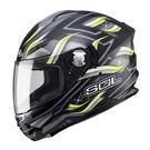 SOL SF-5 查克拉 黑/螢光黃 內墨片 全罩式安全帽 送透明鏡片 內襯可拆洗