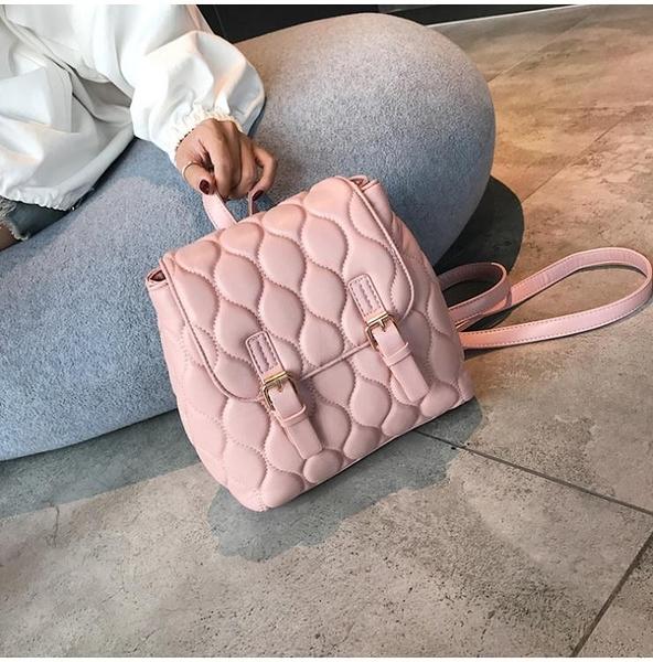後背包 小香風後背包2021新款女韓版百搭菱格ins超火旅行背包迷小包 軟皮 韓國時尚週