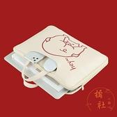 手提電腦包適用蘋果華碩13.3/15寸紅米可愛簡約【橘社小鎮】