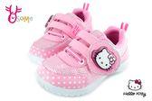 Hello kitty 運動鞋 女童 MIT 電燈鞋 慢跑鞋 G7998#粉紅◆OSOME奧森童鞋