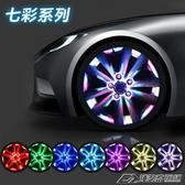 T款 汽車輪轂燈車輪燈太陽能七彩爆閃燈輪胎燈風火輪裝飾燈改裝燈  潮流前線