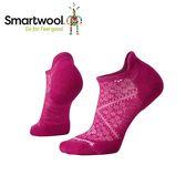 【美國 SmartWool 女Phd跑步輕量菁英減震型踝襪《紫莓色》】SW0SW210/保暖/戶外/運動襪