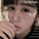 ToGetheR+【CEPG2925】復古風格金屬半框圓形平光眼鏡(六色)