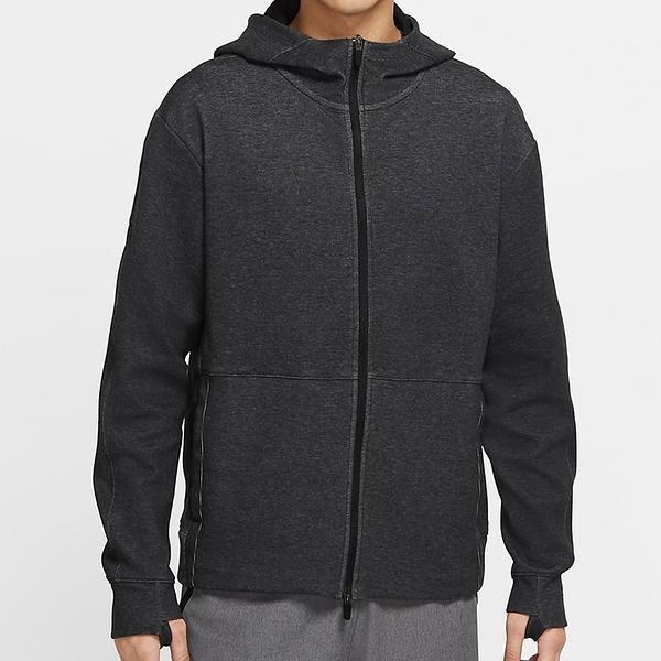 Nike DF FL HD FZ RESTORE 男款 灰黑 慢跑 健身 連帽 運動 外套 CU6261-010