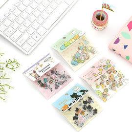 【543】 日本卡通 平面貼紙 憂傷馬戲團 角落生物 靴下貓 DIY卡通貼畫 日記貼紙 手帳貼紙 80枚 WG014