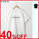 出清 潮t 男生T恤 白T恤 印花 現貨 免運費 日本品牌【coen】