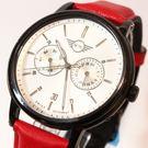 【萬年鐘錶】MINI Cooper Swiss Watches 簡約風腕錶- 白x黑    42mm  MINI-160630
