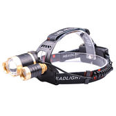 ◄ 生活家精品 ►【P538】20瓦變焦式三頭燈 LED 強光頭燈 探照燈 調焦 充電 遠射  釣魚頭燈 露營