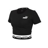 PUMA 女短版短袖T恤(歐規 休閒 上衣 Amplified≡體院≡ 58590601