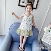女童洋裝連身裙洋氣公主圓點4背心2020夏季新款時尚娃娃領6雪紡裙 LR24779『3C環球數位館』