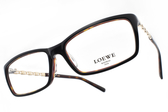 LOEWE 光學眼鏡 VLW836K U80 (黑-琥珀) 簍空拼字造型款 # 金橘眼鏡