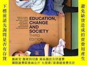 二手書博民逛書店Education,罕見Change And SocietyY2