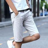 夏季薄款五分褲男士休閒短褲男夏天直筒修身中褲5分休閒褲子男褲