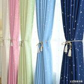 新品定制窗簾成品簡約現代短簾半簾全遮光布平面飄窗臥室客廳出租