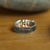泰銀戒指男復古個性男士單身戒夸張樹皮紋路指環食指戒【Kacey Devlin】