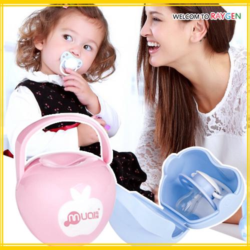 嬰兒用品便攜式小蘋果安撫奶嘴盒 收納盒
