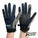PolarStar 配色抗UV排汗短手套『藍』P21516 戶外.防曬手套.防風手套.機車手套.騎車手套.開車手套